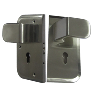 Glass Lock - Double - Stainless Steel F