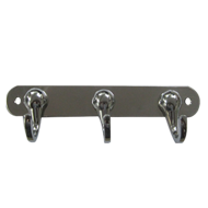 Hook - 3 Peg - Chrome Plated Finish
