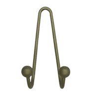 Hook - Satin Nickel Brass Finish