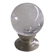 Crystal Cabinet Knob - White Clear / Sa