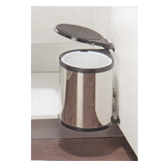 Auto Lid Bin Holder - 8 Ltrs - Carcass Size : 300mm (Minimum) - SS Finish