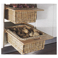 Wicker Basket Pull Out - Size : (WxDxH)
