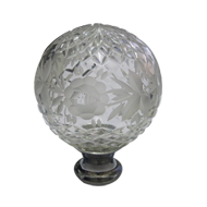 Crystal Door Knob - Crystal/Chrome Finish