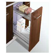 MAK PLUS SERIES Trolly with 2 Shelves Pull Out - Carcass Size : 300mm - Size : (WxDx