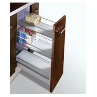 MAK PLUS SERIES Trolly with 3 Shelves Pull Out - Carcass Size : 300mm - Size : (WxDx