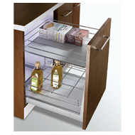 MAK PLUS SERIES Organizer with 2 Shelves Pull Out - Carcass Size : 450mm