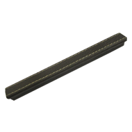 Profile Cabinet Handle - 160mm - Brown Leather
