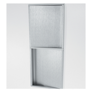 Cabinet Double Flush Handle - 256mm - Satin Chrome Lacquer Finish