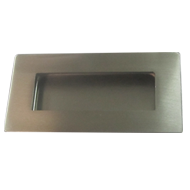 Cabinet Flush Handle - 102mm - Brushed Stainless Steel Finish