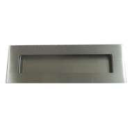 Cabinet Flush Handle - 150mm - Brushed Stainless Steel Finish