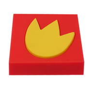 Red/Yellow beautiful kids cabinet knob