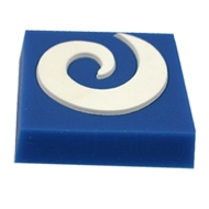 Blue & White Square Cabinet knob