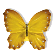 Yellow Butterfly Cabinet Knob in Size 4