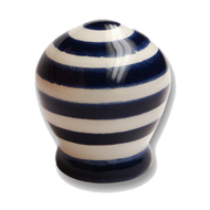 Cabinet Knob - White Blue Striped