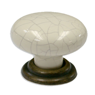 Cabinet Knob - 34mm - Beige/Grey with A