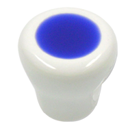 Cabinet Knob - 26mm - White/Blue Colour