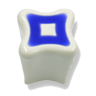 Cabinet Knob - 29mm - White/Blue Colour