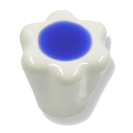 Cabinet Knob - 28mm - White/Blue Colour