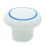 Cabinet Knob - 25mm - White/Dark Blue C