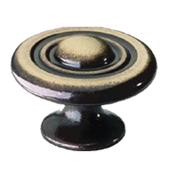 Cabinet Knob - 30mm - Antique Brass Trumbled Finish