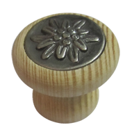Cabinet Knob - 30mm - Pine Natural & An