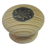 Cabinet Knob - 44mm - Pine Natural & An