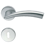 NADIR Lever Handle On Rose in Chrome Fi