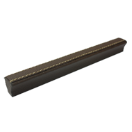 Cabinet Handle - 340mm - Brown Leather