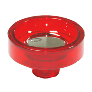Cabinet Knob - 60mm - Red/Bright Chrome