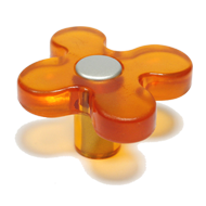 Orange Flower Kids Cabinet Knob