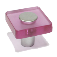 Cabinet Knob - 30mm - Pink/White Alumin