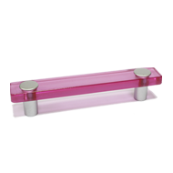 Cabinet Handle - 126mm - Pink/White Alu