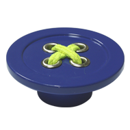 Cabinet Knob - 58mm - Blue Colour