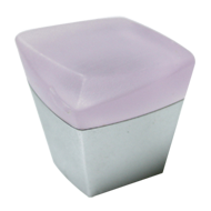 Cabinet Knob - 24mm - Baby Pink/Chrome