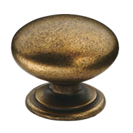Cabinet Knob - 33mm - Antique Brass Tru