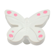 Cabinet Knob - 40mm - White/Pink Colour