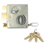 ULTRA TRIBOLT Door Lock 1CK Outside Opening - Satin Nickel Finish