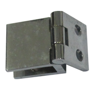 Wall to Glass Hinges - Chrome Finish