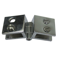 Glass Hinges - Chrome Finish