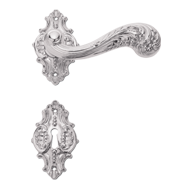 Door lever Handle on Rose in