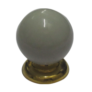 Ball Cabinet Knob Off White Colour with Gold Finish