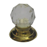 Crystal Cabinet Knob - Gold Finish - 25mm
