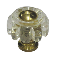 DIAMOND ARC Cabinet Knob - Gold Finish - 25mm
