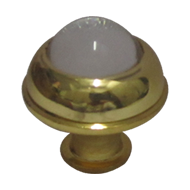 Crystal Cabinet Knob - Gold Finish - 32mm