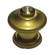 Rivolta Cabinet Knob - Crystal with Satin Gold Finish - 38mm