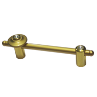 Rivolta Cabinet Handle - Crystal with Satin Gold Finish - 150mm