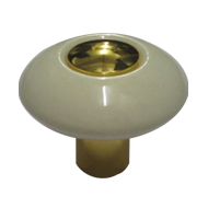 Regent Cabinet Knob - Ivory Gold Finish - 32mm