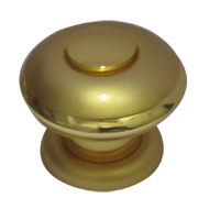 Tissot Cabinet Knob - Satin Gold Finish - 38mm