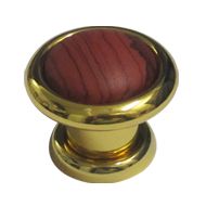 Samrat Cabinet Knob - Brown Rose Gold Finish - 32mm