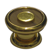 Starling Teek Wood Cabinet Knob - Gold Finish - 38mm